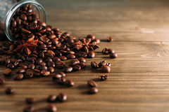 Coffee beans in a jar Royalty Free Stock Images