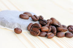 Coffee beans or kaffeepads Stock Photography