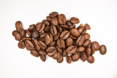 Coffee beans koffie. Fresh roasted coffee beans ready to brew for a nice cup of coffee. Aroma all over Royalty Free Stock Photos
