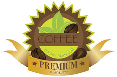 Coffee Beans Label Illustration Royalty Free Stock Photo