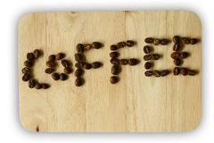 The Coffee beans letter Royalty Free Stock Photo