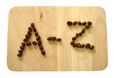 The Coffee beans letter Stock Photography