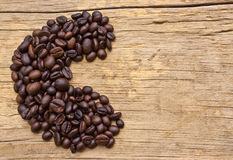 The Coffee beans letter Royalty Free Stock Photography