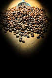Coffee beans with lighting Royalty Free Stock Image