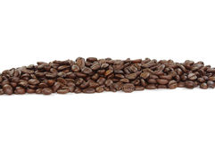 Coffee beans line Stock Photography