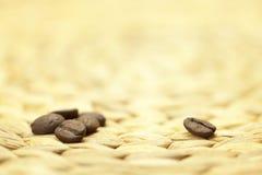 Coffee beans on linen rag Royalty Free Stock Photo