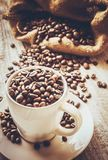 Coffee beans.  Love. Coffee beans. Selective focus. Food Royalty Free Stock Images