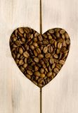 Coffee beans love heart Stock Image
