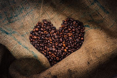 Coffee Beans Love Sign Royalty Free Stock Photo