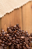 Coffee Beans Lower and Cloth High Royalty Free Stock Photos