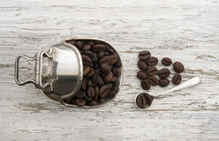 Coffee Beans in a luxury setting Stock Photography