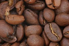 Coffee beans macro Stock Photography