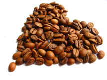 Coffie beans heart Stock Photos