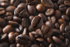 Coffee beans macro Royalty Free Stock Images