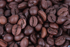 Coffee beans, macro closeup. Background Royalty Free Stock Photo