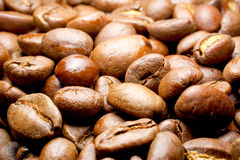 Coffee beans macro for fun and pleasure Stock Images