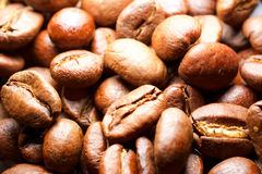 Coffee beans macro for fun and pleasure Royalty Free Stock Photography