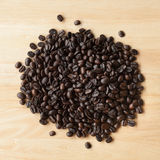 Coffee beans. Many coffee beans on the table Stock Photo