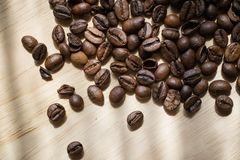 Coffee beans. Morning cup of coffee,coffee beans Stock Photography