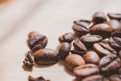 Coffee beans. Morning cup of coffee,coffee beans Royalty Free Stock Photo