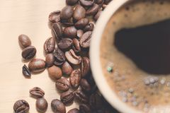 Coffee beans. Morning cup of coffee,coffee beans Stock Image