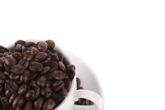 Coffee beans with mug Stock Photos