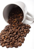 Coffee Beans and Mug Stock Image
