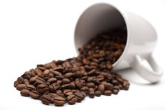 Coffee Beans and Mug Stock Photos