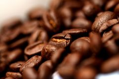 Coffee Beans. A mug of coffee beans Royalty Free Stock Photography