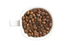 Coffee beans in mug Royalty Free Stock Photo