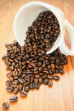 Coffee beans in a mug Stock Photography