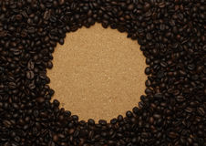 Coffee beans and old background Stock Photography