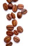 Coffee Beans On White Stock Photos