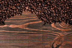 Free Coffee Beans On Wooden Background Stock Photos - 98023293