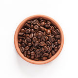 Coffee beans in the orange bowl Stock Photo