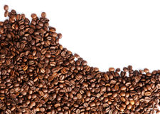 Coffee beans over white background Stock Photo
