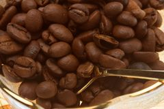 Coffee beans over white background Royalty Free Stock Image