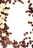 Coffee beans, paper, Royalty Free Stock Photography