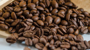 Coffee beans in paper bag Royalty Free Stock Images