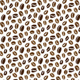 Coffee beans pattern. Simple coffee beans pattern in roasted brown. Seamless vector shapes Stock Images