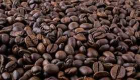 Coffee beans pattern Royalty Free Stock Photography