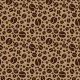 Coffee beans pattern. Coffee seamless background. Vector Illustration Stock Photography