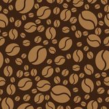 Coffee beans pattern. Seamless background. Vector Illustration. Coffee beans pattern. Coffee seamless background. Vector Illustration Royalty Free Stock Photography