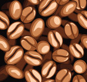 Coffee beans pattern Royalty Free Stock Image