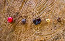 Coffee beans, peeled, dry and roasted Stock Image
