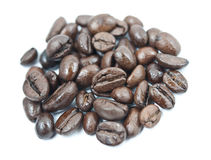 Coffee beans pile close up Stock Photo