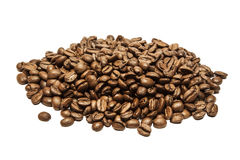 Coffee beans pile royalty free stock photo