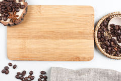 Coffee beans and place for text Royalty Free Stock Images