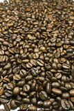Coffee. Beans are placed throughout the image area Stock Image