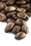 Coffee Beans. Coffee  beans on a plain background Royalty Free Stock Images